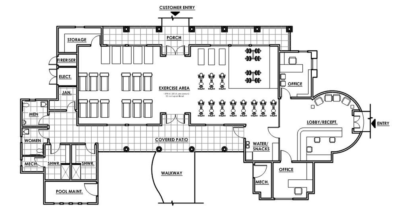 Fix Fitness Gym Design And Layout
