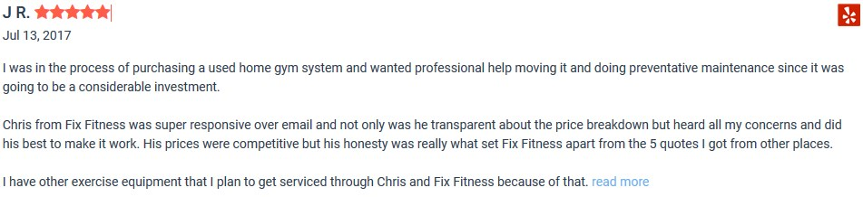 Fix Fitness reviews